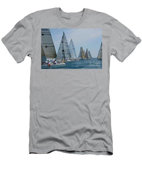Sailboat Race Men's T-Shirt (Slim Fit) by Randy J Heath