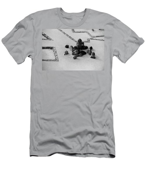 A Aerial View Of A Zen Rock Garden Men's T-Shirt (Athletic Fit)