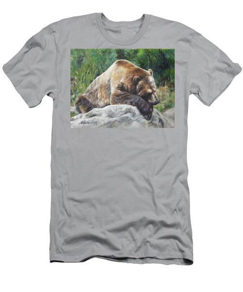 A Bear Of A Prayer Men's T-Shirt (Slim Fit) by Lori Brackett