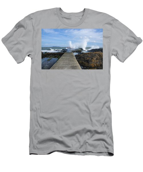 A Blustery Day At High Rock Men's T-Shirt (Athletic Fit)