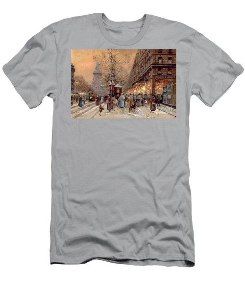 A Busy Boulevard Near The Place De La Republique Paris Men's T-Shirt (Athletic Fit)