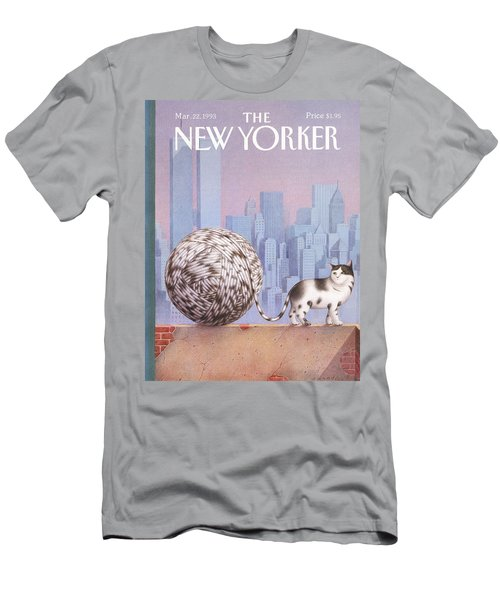 A Cat With A Ball Of String For A Tail Men's T-Shirt (Athletic Fit)