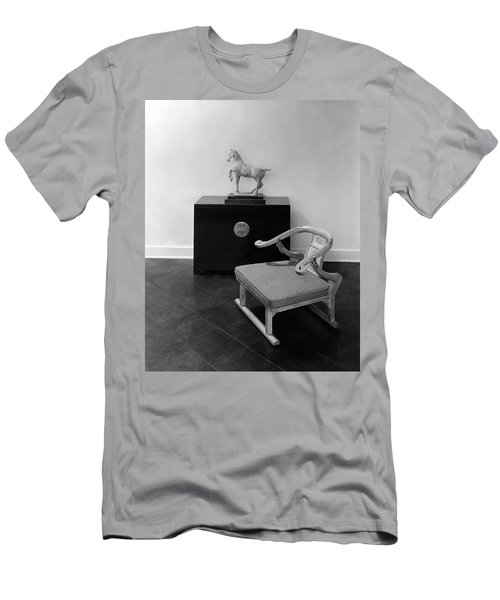 A Chair, Bedside Cabinet And Sculpture Of A Horse Men's T-Shirt (Athletic Fit)