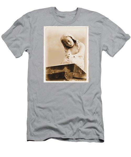 A Child's Prayer Men's T-Shirt (Slim Fit) by Nadalyn Larsen