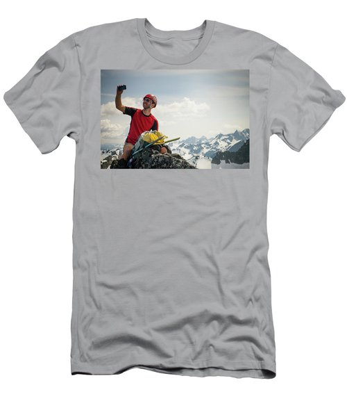 A Climber Takes A Selfie Men's T-Shirt (Athletic Fit)