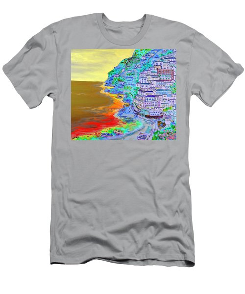 A Coastal View Of Positano Men's T-Shirt (Athletic Fit)