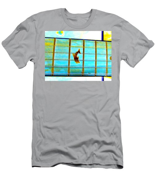 A Dolphin On A Guitar Ocean Men's T-Shirt (Athletic Fit)