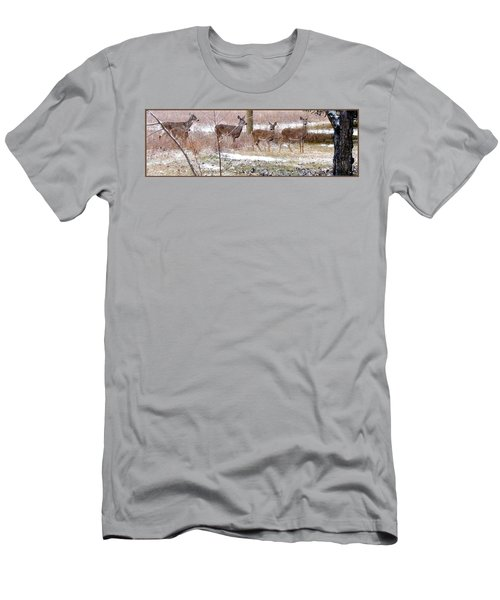 A Dusting On The Deer Men's T-Shirt (Athletic Fit)