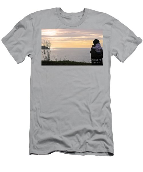 Men's T-Shirt (Slim Fit) featuring the photograph A Father's Love by Suzanne Oesterling