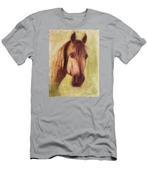 Men's T-Shirt (Slim Fit) featuring the painting A Fine Horse by Xueling Zou
