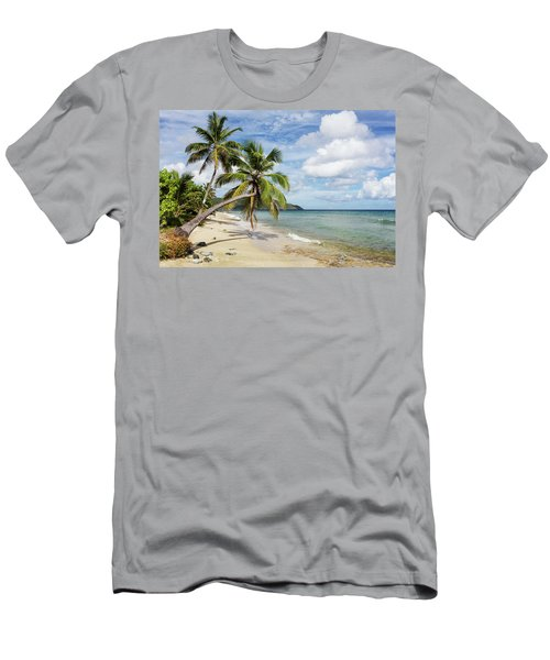 A Gorgeous Palm Tree Stretches Men's T-Shirt (Athletic Fit)