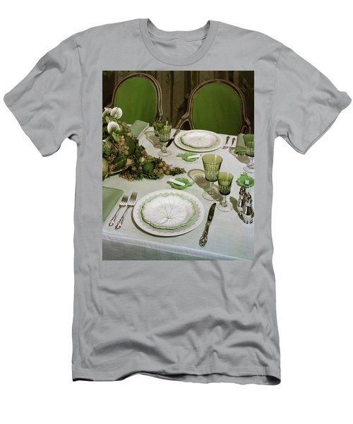 A Green Table Setting Men's T-Shirt (Athletic Fit)
