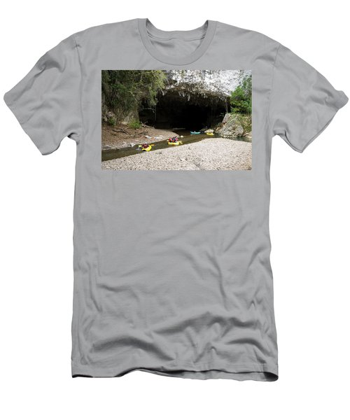A Group Of Adventure Tourists Men's T-Shirt (Athletic Fit)