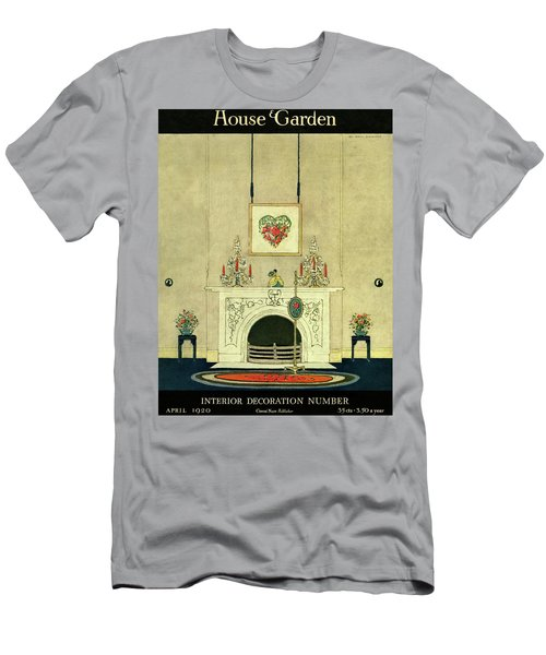 A House And Garden Cover Of A Fireplace Men's T-Shirt (Athletic Fit)