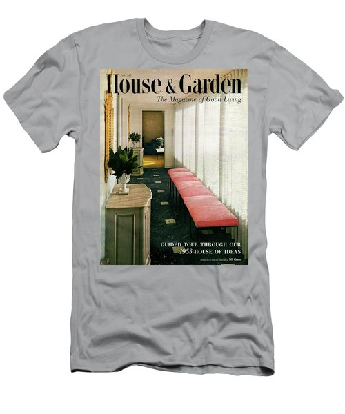 A House And Garden Cover Of A Hallway Men's T-Shirt (Athletic Fit)