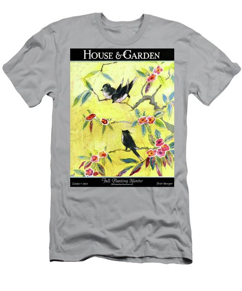 A House And Garden Cover Of Chickadees Men's T-Shirt (Athletic Fit)