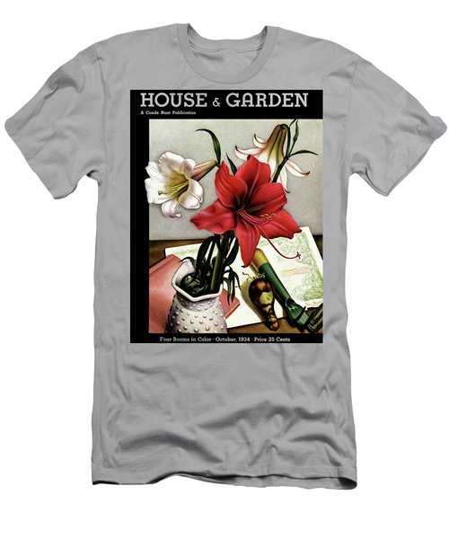 A House And Garden Cover Of Lilies Men's T-Shirt (Athletic Fit)