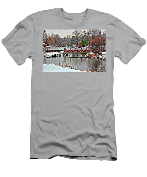 Men's T-Shirt (Slim Fit) featuring the photograph A Light Dusting Of Snow by Judy Palkimas
