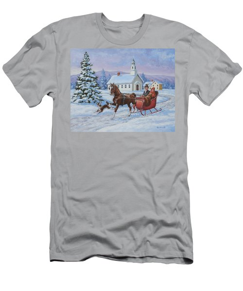 A One Horse Open Sleigh Men's T-Shirt (Athletic Fit)