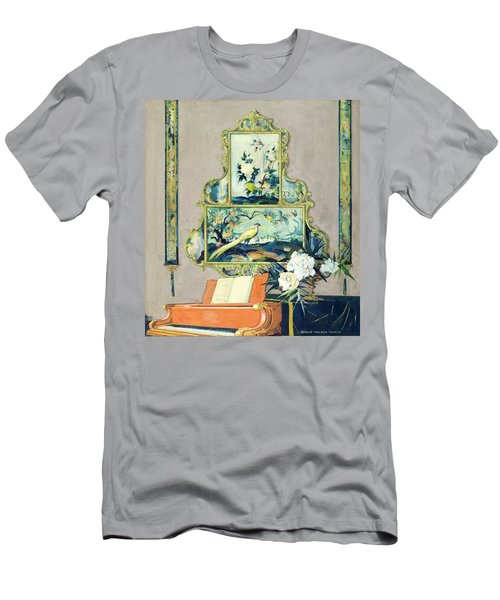 A Painting Of A House Interior Men's T-Shirt (Athletic Fit)