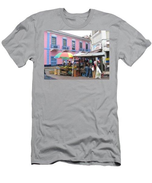 A Pop Of Tropical Color Men's T-Shirt (Athletic Fit)