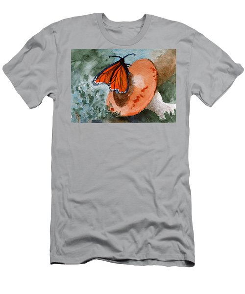 Men's T-Shirt (Slim Fit) featuring the painting A Resting Place by Beverley Harper Tinsley