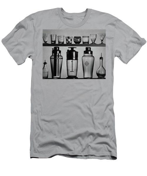 A Row Of Glasses On A Shelf Men's T-Shirt (Athletic Fit)