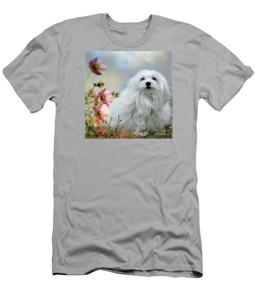 Men's T-Shirt (Slim Fit) featuring the photograph A Soft Summer Breeze by Morag Bates