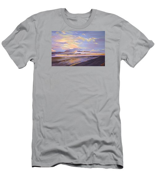 Men's T-Shirt (Slim Fit) featuring the painting A South Facing Shore by Donna Blossom