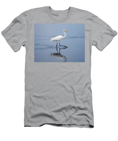 Men's T-Shirt (Slim Fit) featuring the photograph A Stroll In The Marsh by John M Bailey