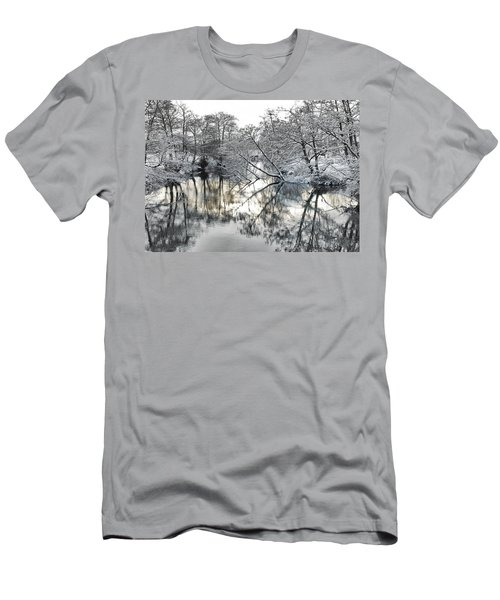 A Winter Scene Men's T-Shirt (Athletic Fit)