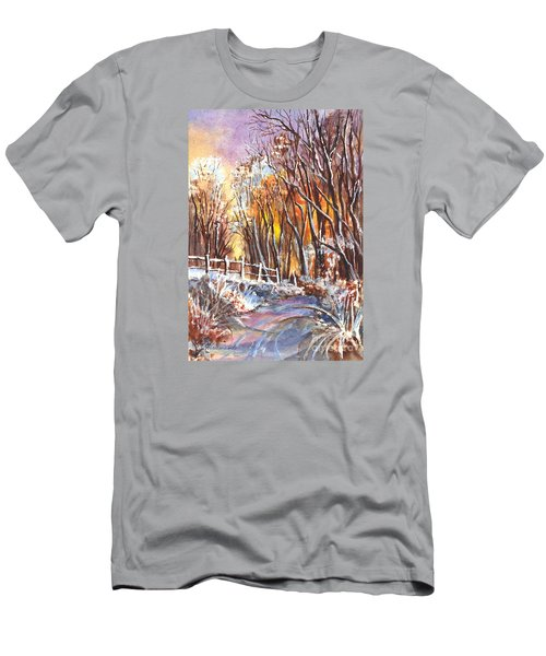 A Firey Winter Sunset Men's T-Shirt (Athletic Fit)