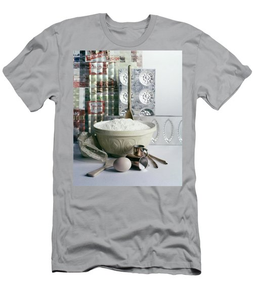 A Wooden Spoon In A Bowl Of Flour Men's T-Shirt (Athletic Fit)