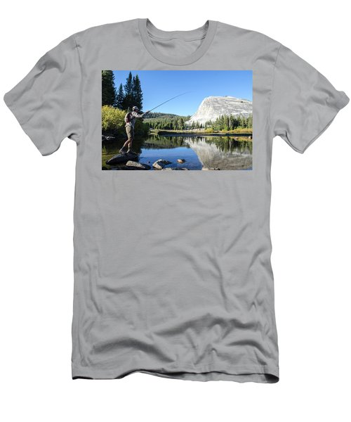 A Young Man Fly-fishes In Tuolumne Men's T-Shirt (Athletic Fit)