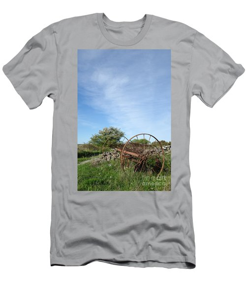 Abandoned Old Horse Rake  Men's T-Shirt (Slim Fit) by Kennerth and Birgitta Kullman