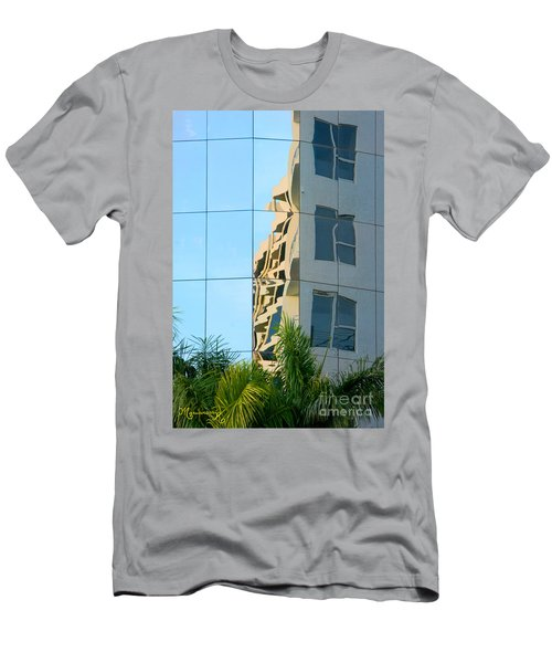 Abstract Architectural Shapes Men's T-Shirt (Athletic Fit)