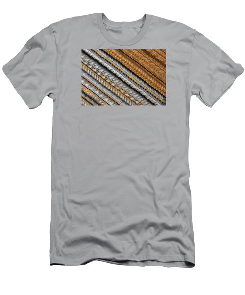 Abstract Metal Texture Pattern Men's T-Shirt (Athletic Fit)