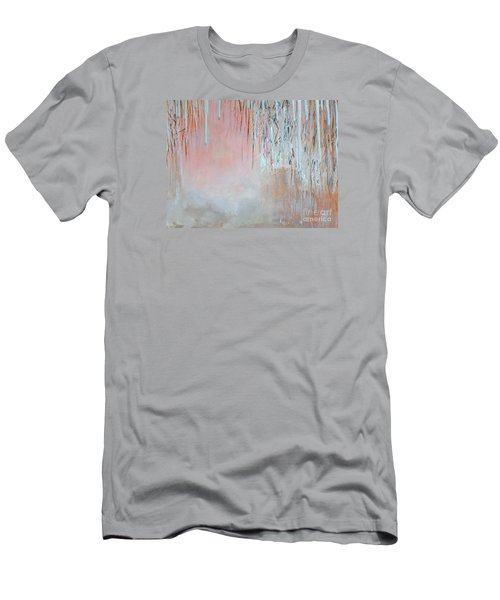 Men's T-Shirt (Slim Fit) featuring the painting Abstract Spring by Donna Dixon