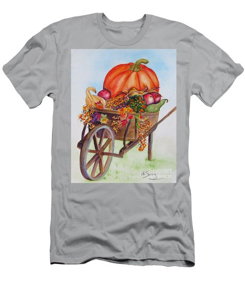 Men's T-Shirt (Athletic Fit) featuring the painting Abundance  by Diane DeSavoy
