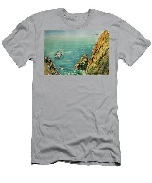 Acapulco Cliff Diver Men's T-Shirt (Slim Fit) by Frank Hunter