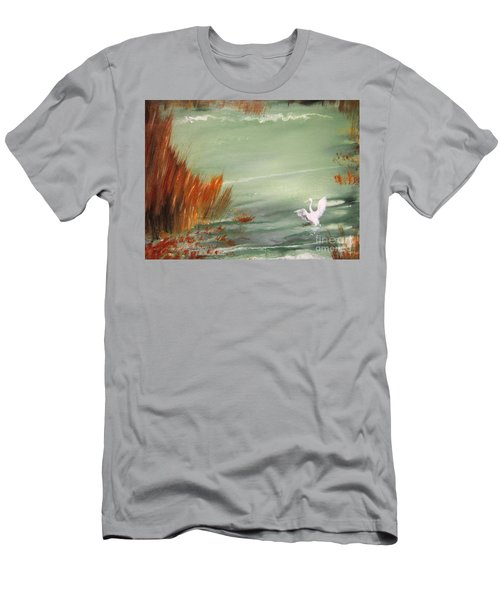 Men's T-Shirt (Slim Fit) featuring the painting Achieving Stillness2 by Laurianna Taylor