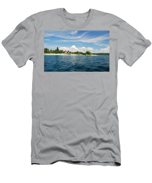 Men's T-Shirt (Slim Fit) featuring the photograph Across The Bay To The Light by Janice Adomeit