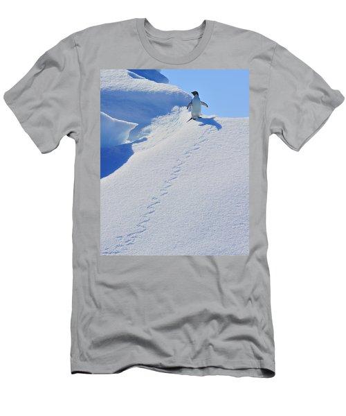 Adelie Penguin On Bergie Bit Men's T-Shirt (Athletic Fit)