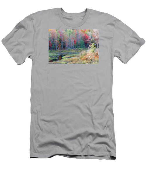 Men's T-Shirt (Slim Fit) featuring the photograph Adirondack Fall by Mariarosa Rockefeller