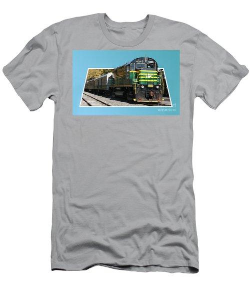 Adirondack Railroad Men's T-Shirt (Athletic Fit)
