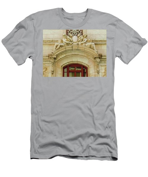 Men's T-Shirt (Slim Fit) featuring the photograph Adolphus Hotel - Dallas #4 by Robert ONeil