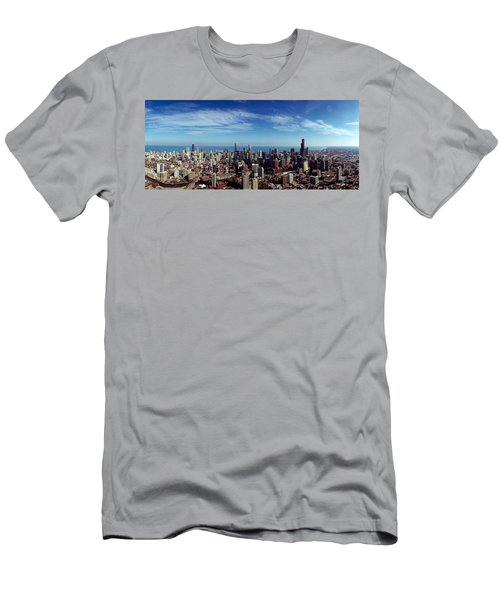 Aerial View Of A Cityscape With Lake Men's T-Shirt (Athletic Fit)