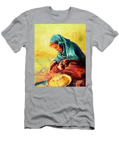 African Chai Tea Lady. Men's T-Shirt (Athletic Fit)