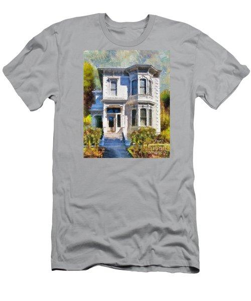 Alameda 1880 - Queen Anne  Men's T-Shirt (Slim Fit) by Linda Weinstock