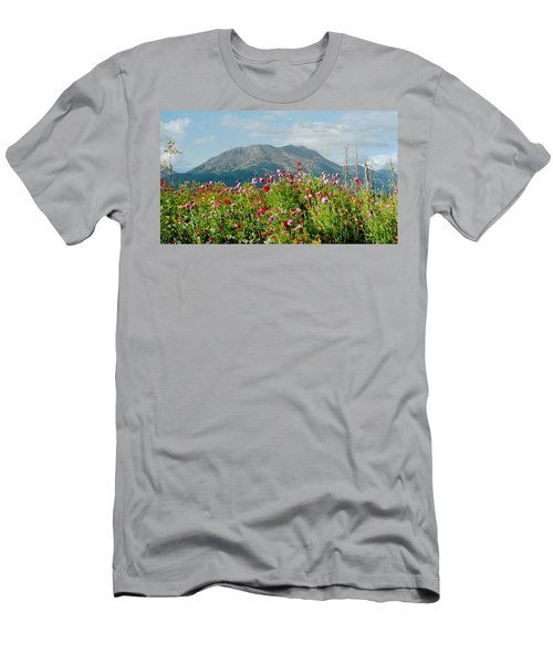 Alaska Flowers In September Men's T-Shirt (Athletic Fit)